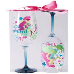 Tropix 2-pc. Secretly A Mermaid Wine Goblet Set