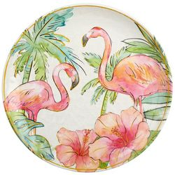 Coastal Home Flamingle Flamingo Dinner Plate