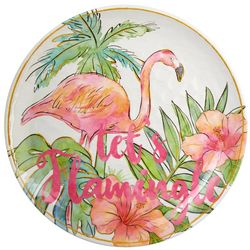 Coastal Home Let's Flamingle Salad Plate