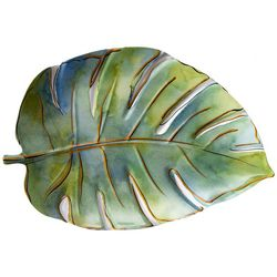 Coastal Home Flamingle Leaf Oblong Platter
