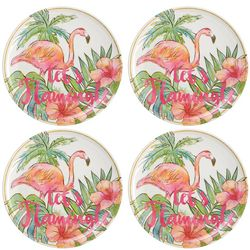 Coastal Home 4-pc. Let's Flamingle Appetizer Plate Set