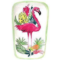 Tropix Pink Pineapple Flamingo Oblong Serving Tray