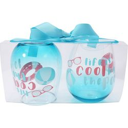 Tropix 2-pc. Cool By The Pool Stemless Wine Goblet Set