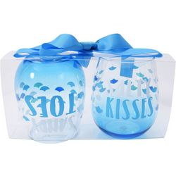 Tropix 2-pc Salty Kisses Sandy Toes Stemless Wine Goblet Set
