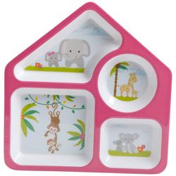 Gibson Animals Childrens 4 Section Plate