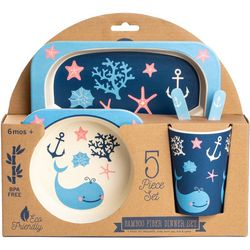Core Home 5-pc. Nautical Whale Bamboo Children's Dinner Set