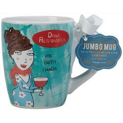 Certified International 24 oz. Use Both Hands Mug