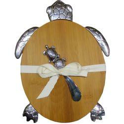 JD Yeatts 2-pc. Turtle Bamboo Cutting Board & Spreader Set