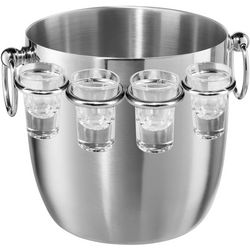 OGGI Corporation 8-pc. Stainless Steel Bucket and Glass Set
