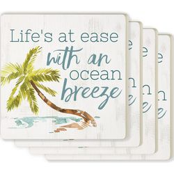 P. Graham Dunn 4-pc. Life's At Ease Coaster Set