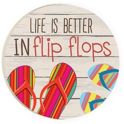 P. Graham Dunn Life In Flip Flops Car Coaster