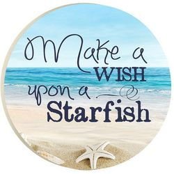 P. Graham Dunn Make A Wish Starfish Car Coaster