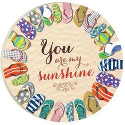 P. Graham Dunn You Are My Sunshine Car Coaster