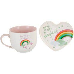 10 Strawberry Street 2-pc. Unicorn Mug & Trinket Set