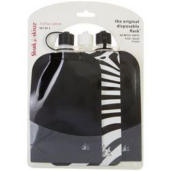 Shark Skinzz 3-pc. 7.5 fl. oz. Zebra Disposable Flask