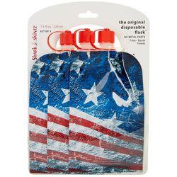 Shark Skinzz 3-pc. 7.5 fl oz. American Flag Disposable Flask
