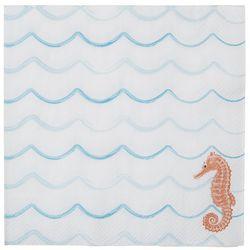Boston International 20-pk. Seahorse Wave Napkins