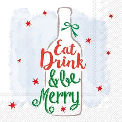 Boston International 20-pk. Be Merry Cocktail Napkins