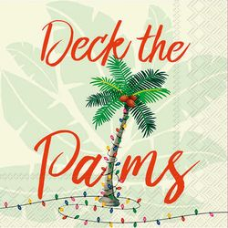 Boston International 20-pk. Deck The Palms Cocktail Napkins