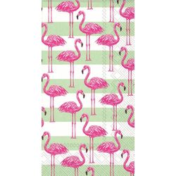 Boston International 20-pk. Flamingo Stripe Dinner Napkins
