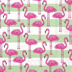 Boston International 20-pk. Flamingo Stripe Cocktail Napkins