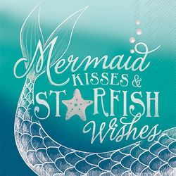 Boston International 20-pk. Mermaid Kisses Cocktail Napkins
