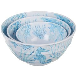 Coastal Kitchen 3-pc. Sealife Mixing Bowl Set