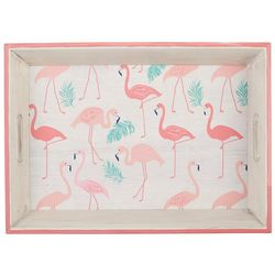 Coastal Kitchen Flamingo Pantry Wood Tray