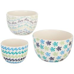 Dennis East 3-pc. Sea Turtle Bowl Set