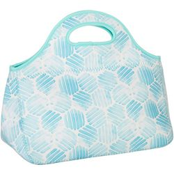 Key Lime Lexi Hexagon Print Lunch Tote