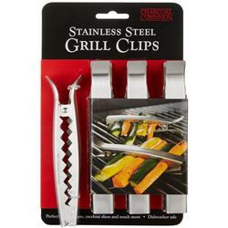 Charcoal Companion 4-pc. Stainless Steel Grill Clips