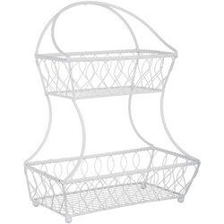 Gourmet Basics Lattice Two Tier Flatback Basket