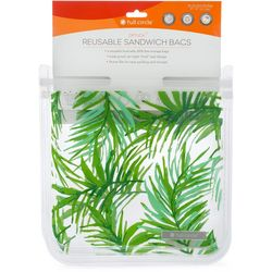 Full Circle 2-pc. Ziptuck Palm Leaf Reusable Sandwich Bags