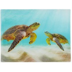 Coastal Kitchen Underwater Sea Turtle Large Cutting Board