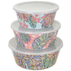 Tropix 3-pc. Banana Leaf Storage Bowl Set