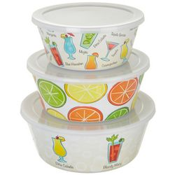 Tropix 3-pc. Happy Hour Storage Bowl Set