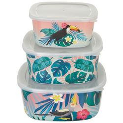 Tropix 3-pc. Birds Of A Feather Storage Bowl Set