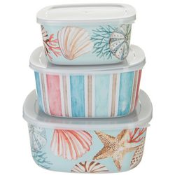 Tropix 3-pc. Coral Reef Nested Container & Lid Set