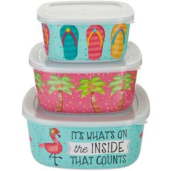 Tropix 3-pc. Party Animals Nested Container & Lid Set