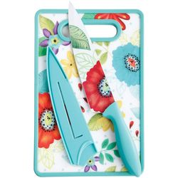 Gibson 3-pc. 8'' Chef Knife & Cutting Board Set