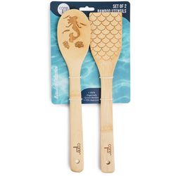 Core Home 2-pc. Bamboo Laser Etched Mermaid Utensil Set
