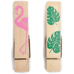 Core Home 2-pc. Flamingo Clothespin Bag Clip Set