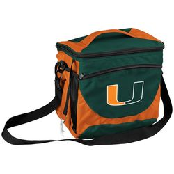 Logo Athletics Miami Hurricanes 24 Can Cooler