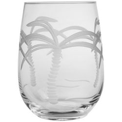 Rolf Glass 17 oz. Palm Tree Stemless Goblet