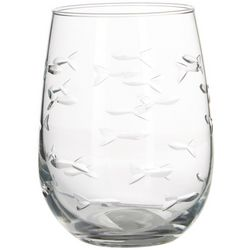 Rolf Glass 17 oz. School of Fish Stemless Goblet