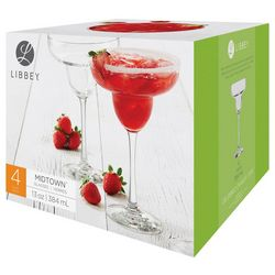 Libbey 4-pc. Midtown Margarita Glass Set