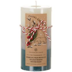 Chesapeake Bay Candle 6'' Green Triple Layer Pillar Candle