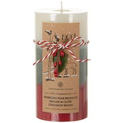 Chesapeake Bay Candle 6'' Red Triple Layer Pillar Candle
