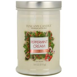 Tuscany 18 oz. Peppermint Cream Jar Candle