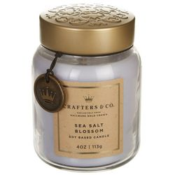 Crafters & Co. 4 oz. Sea Salt Blossom Soy Jar Candle